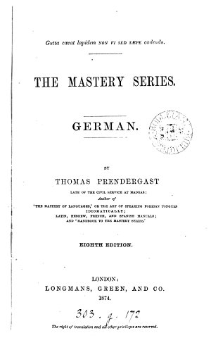 The Mastery series  German