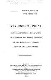 Catalogue of Prints