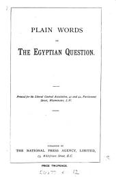 Plain words on the Egyptian question: Volume 3