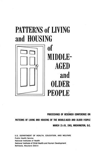 Patterns of Living and Housing of Middle aged and Older People PDF