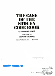 The Case Of The Stolen Code Book Book PDF