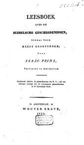 Leesboek over de bijbelsche geschiedenissen, vooral voor meestgeoefenden: Volume 3