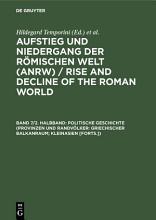 Politische Geschichte  Provinzen und Randv  lker  Griechischer Balkanraum  Kleinasien  Forts    PDF