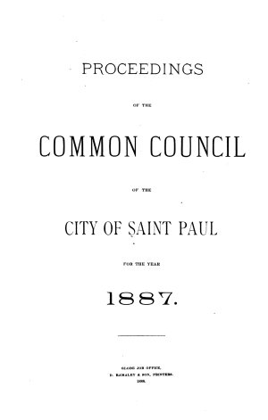 Proceedings of the St  Paul City Council