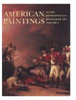 American Paintings in The Metropolitan Museum of Art  Vol  1 PDF