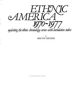 Ethnic Chronology Series PDF