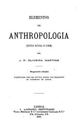 Elementos de anthropologia (historia natural do homem)