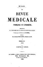 LA REVUE MEDICALE FRANCAISE ET ETRANGERE,