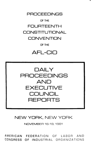 Proceedings of the     Constitutional Convention of the AFL CIO  PDF