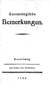 Entomologische Bemerkungen: Ausgabe 1