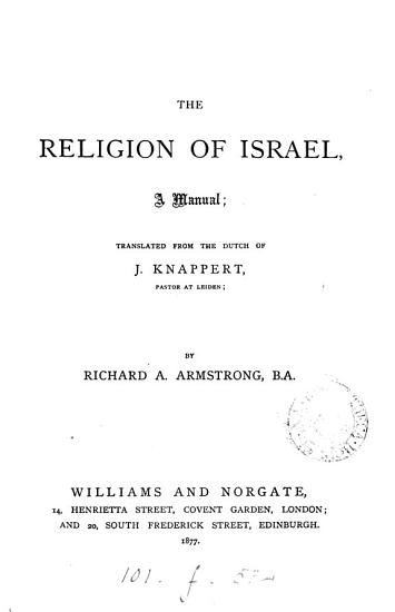 The Religion of Israel PDF