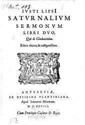 Saturnalium sermonum libri II: qui de gladiatoribus