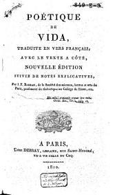 Poétique, traduite en vers français, avec le texte à côté