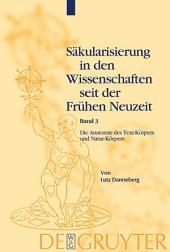 Die Anatomie des Text-Körpers und Natur-Körpers: Das Lesen im liber naturalis und supernaturalis