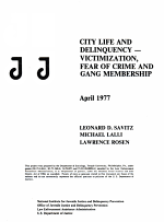 City Life and Delinquency - Victimization, Fear of Crime, and Gang Membership