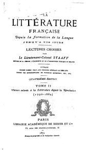 1.ptie. Auteurs enlevés à la. littérature depuis la révolution (1790-1830) 6.éd. 1878.-t.II 2. ptie. Auteurs enlevés à littérature depuis la restauration (1830-1869) 1877