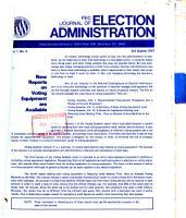 FEC Journal of Election Administration PDF