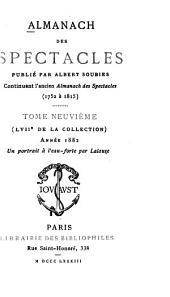 Almanach des spectacles: Volumes9à10