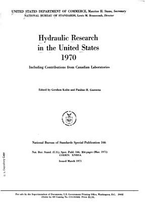 Hydraulic Research in the United States and Canada PDF