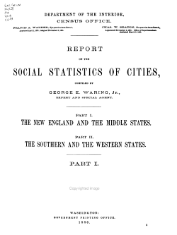 Tenth Census of the United States  1880  Social statistics   2 microfiches PDF