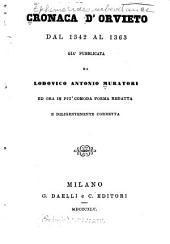 Cronaca d'Orvieto dal 1342 al 1363