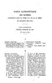 Bulletin des lois de la République Française: Volume 25