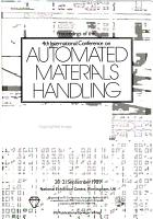 Proceedings of the 4th International Conference on Automated Materials Handling PDF