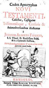 Codex apocryphus Novi Testamenti: Volume 1