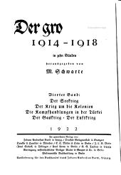 Der grosse krieg, 1914-1918: Band 4