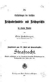 Die Entscheidungen des Reichsgerichts: Band 3