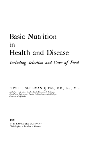 Basic nutrition in health and disease