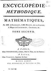 Encyclopédie méthodique: Mathématiques, Volume2