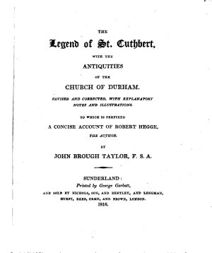 The Legend of St  Cuthbert  with the Antiquities of the Church of Durham PDF