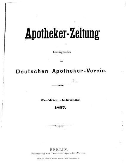 Deutsche Apotheker Zeitung PDF