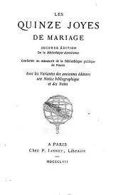 Les quinze joyes [joies] de mariage