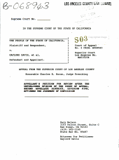 California. Supreme Court. Records and Briefs: S039668, Petition for Review