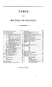 Oeuvres: Avec les commentaires revus, corrigés et augmentés : précédées de l'histoire de la satire en France pour servir de discours préliminaire