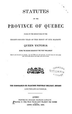 Statutes of the Province of Quebec PDF