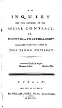 An Inquiry Into the Nature of the Social Contract