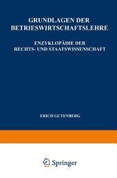 Grundlagen der Betriebswirtschaftslehre: Die Produktion, Ausgabe 7
