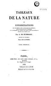 Tableaux de la nature, ou Considérations sur les déserts, sur la physionomie des végétaux...