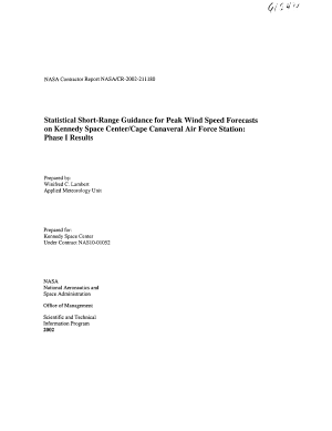 Statistical shortrange guidance for peak wind speed forecasts on Kennedy Space Center Cape Canaveral Air Force Station phase 1 results
