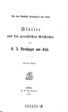 Blaetter aus der Preussischen Geschichte PDF