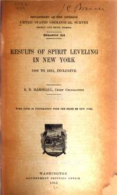 Results of spirit leveling in New York, 1906-1911, inclusive