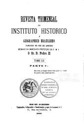 Revista do Instituto Histórico e Geográfico Brasileiro: Volume 52