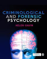 Criminological and Forensic Psychology PDF