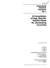 A Compilation of Age-specific Fertility Rates for Developing Countries