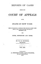 Reports of Cases Decided in the Court of Appeals of the State of New York: Volume 66
