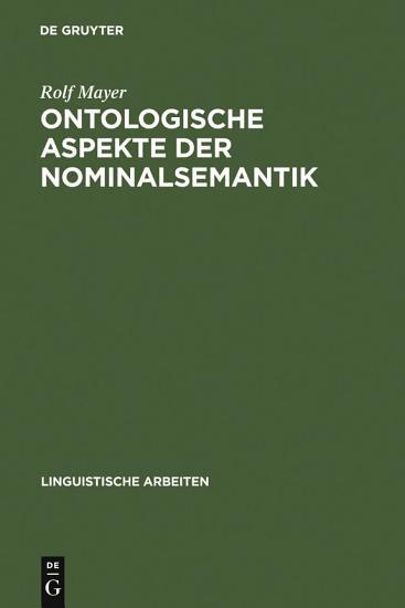 Ontologische Aspekte der Nominalsemantik PDF