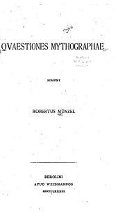 Quaestiones mythographae